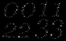 Snowflakes digits Stock Image