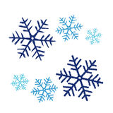 Snowflakes doodle Stock Image