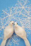 Snowflakes and Doves Royalty Free Stock Photo