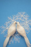 Snowflakes and Doves Stock Image
