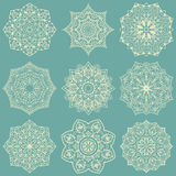 Snowflakes for embroidery. Royalty Free Stock Photos