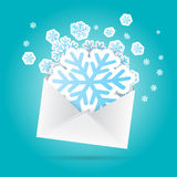 Snowflakes Envelope Royalty Free Stock Image