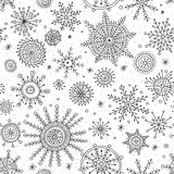 Snowflakes ethnicl style mix seamless pattern royalty free stock photos