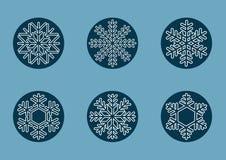 Snowflakes för jul Arkivfoto