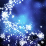 Snowflakes falling Royalty Free Stock Photography