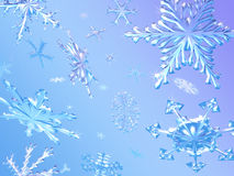 Snowflakes Falling Royalty Free Stock Images
