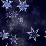 Snowflakes falling. Agaisnt a winter scene backdrop Royalty Free Stock Photos