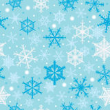 Snowflakes Falling Seamless Pattern_eps Royalty Free Stock Photography