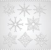 Snowflakes falling shadow Royalty Free Stock Photos