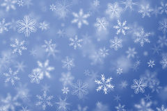 Snowflakes falling winter background. Stock Image