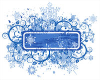 Snowflakes flowers frame Royalty Free Stock Photo