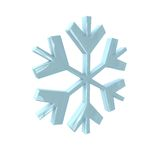 Snowflake in 3D Stock Images