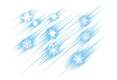 Snowflakes flying. Different snowflakes falling. Vector illustration Royalty Free Stock Photos