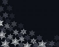 Snowflakes frame Stock Photo