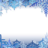 Snowflakes frame. Winter holidays snowflakes frame for your business royalty free illustration