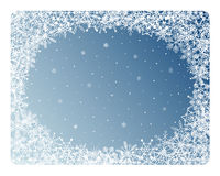 Snowflakes frame Stock Photo