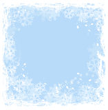 Snowflakes frame. Frame surrounded by snowflakes. Try different colour Royalty Free Stock Images
