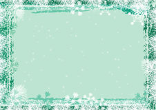 Snowflakes frame Royalty Free Stock Photo