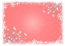 Snowflakes frame with balls Stock Photos