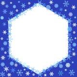 Snowflakes frame Stock Image