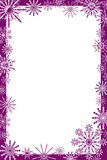 Snowflakes frame, vector Stock Photography