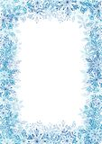 Snowflakes frame for Your design vector illustration