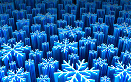 Snowflakes : futuristic plate Royalty Free Stock Photo