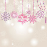 Snowflakes garland  background Stock Images
