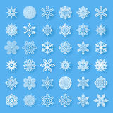 Snowflakes geometric abstract geometry Cristmas New Year Icons Greeting Card Design Elements Template Vector. Snowflakes geometric abstract geometry Cristmas New Royalty Free Stock Photos