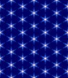 Snowflakes. Geometric pattern , seamless texture with snowflakes on a blue background , stars , vector illustration Stock Images