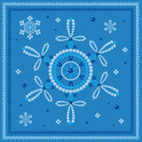 Snowflakes glass beads blue Royalty Free Stock Image