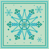 Snowflakes glass beads. Christmas snowflakes glass beads green Royalty Free Stock Photography