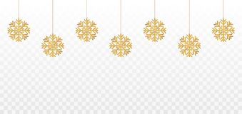 Snowflakes. Golden shining snowflakes with glitter. Christmas and New year decoration. Vector. Illustration vector illustration