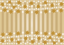 Snowflakes and golden stars Stock Image