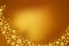 Snowflakes - golden winter background. For your own creations Royalty Free Stock Photo