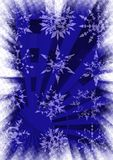 Snowflakes grunge background. Abstract blue background, bitmap illustration vector illustration