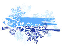 Snowflakes & grunge banner Royalty Free Stock Image