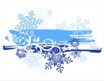 Snowflakes & grunge banner Royalty Free Stock Image
