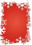 Snowflakes_grunge_frame Imágenes de archivo libres de regalías
