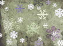 Snowflakes on grungy background Royalty Free Stock Photos