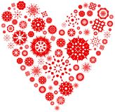 Snowflakes heart stock images