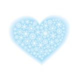 Snowflakes in heart shaped Royalty Free Stock Photo
