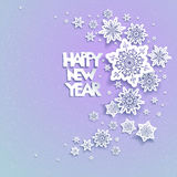 Snowflakes holiday background 02. Snowflakes holiday Christmas background for banners, advertising, leaflet, cards, invitation and so on Stock Image