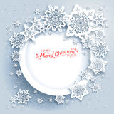Snowflakes holiday frame Royalty Free Stock Photography