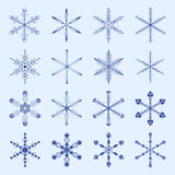 Snowflakes and icicles winter vector set Royalty Free Stock Image