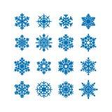 Snowflakes icon collection. Vector Stock Photo