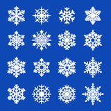 Snowflakes icon collection. Vector Stock Photos