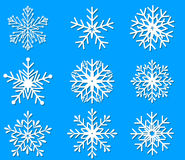 Snowflakes icon collection Royalty Free Stock Images