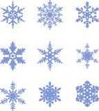 Snowflakes icon collection. Vector shape Royalty Free Stock Image