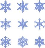 Snowflakes icon collection. Vector shape Stock Photo